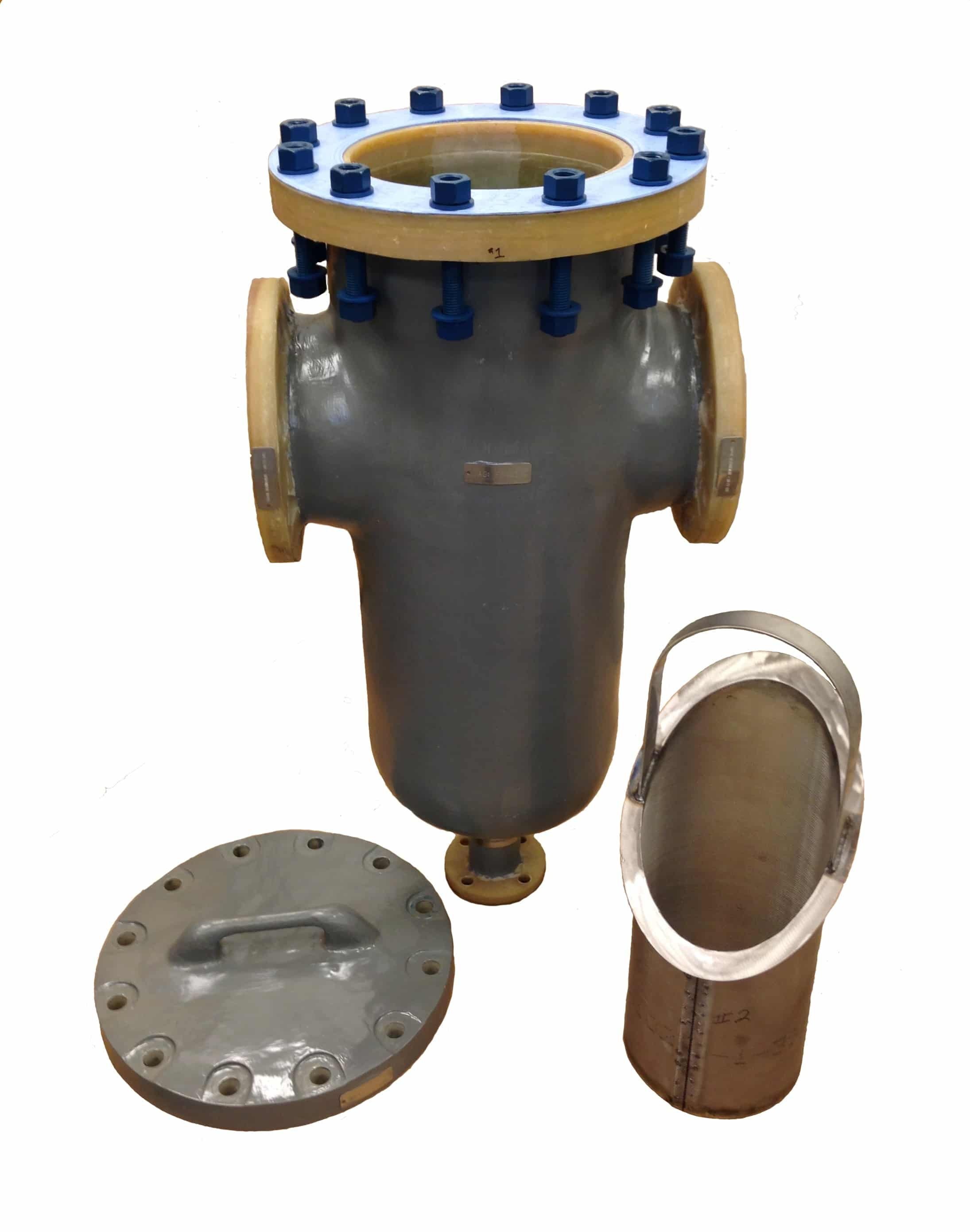 Composite Strainer with PTFE Coated Bolts