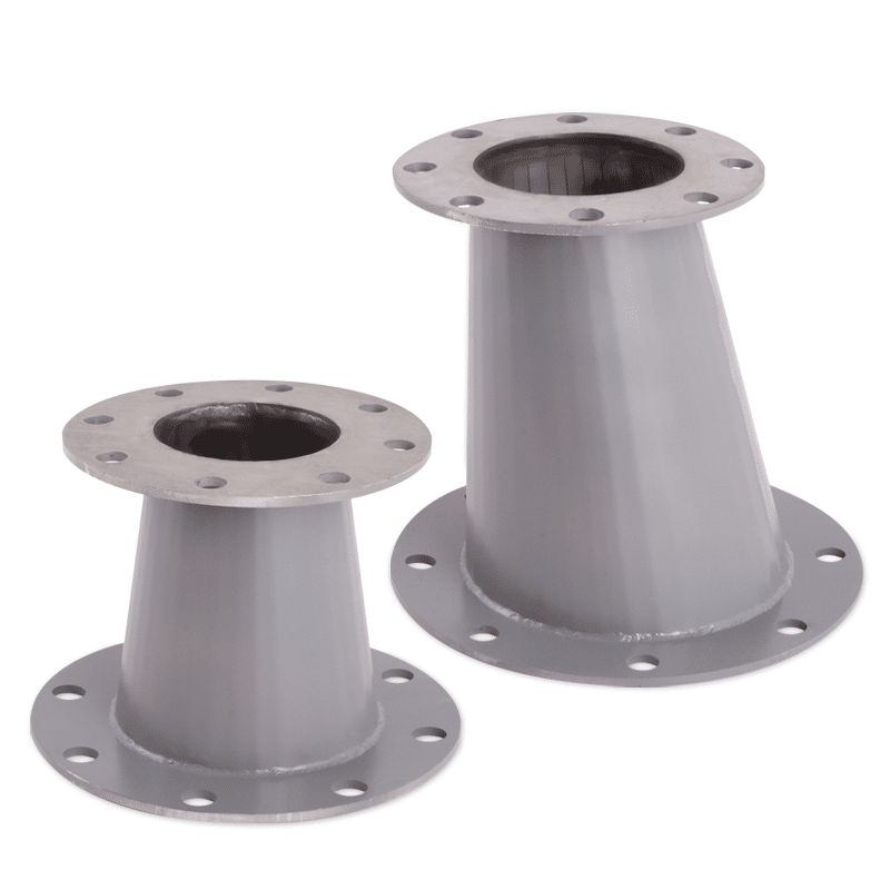 Stainless Steel and Fiberglass Reducers for commercial pools, aquariums, zoos, etc