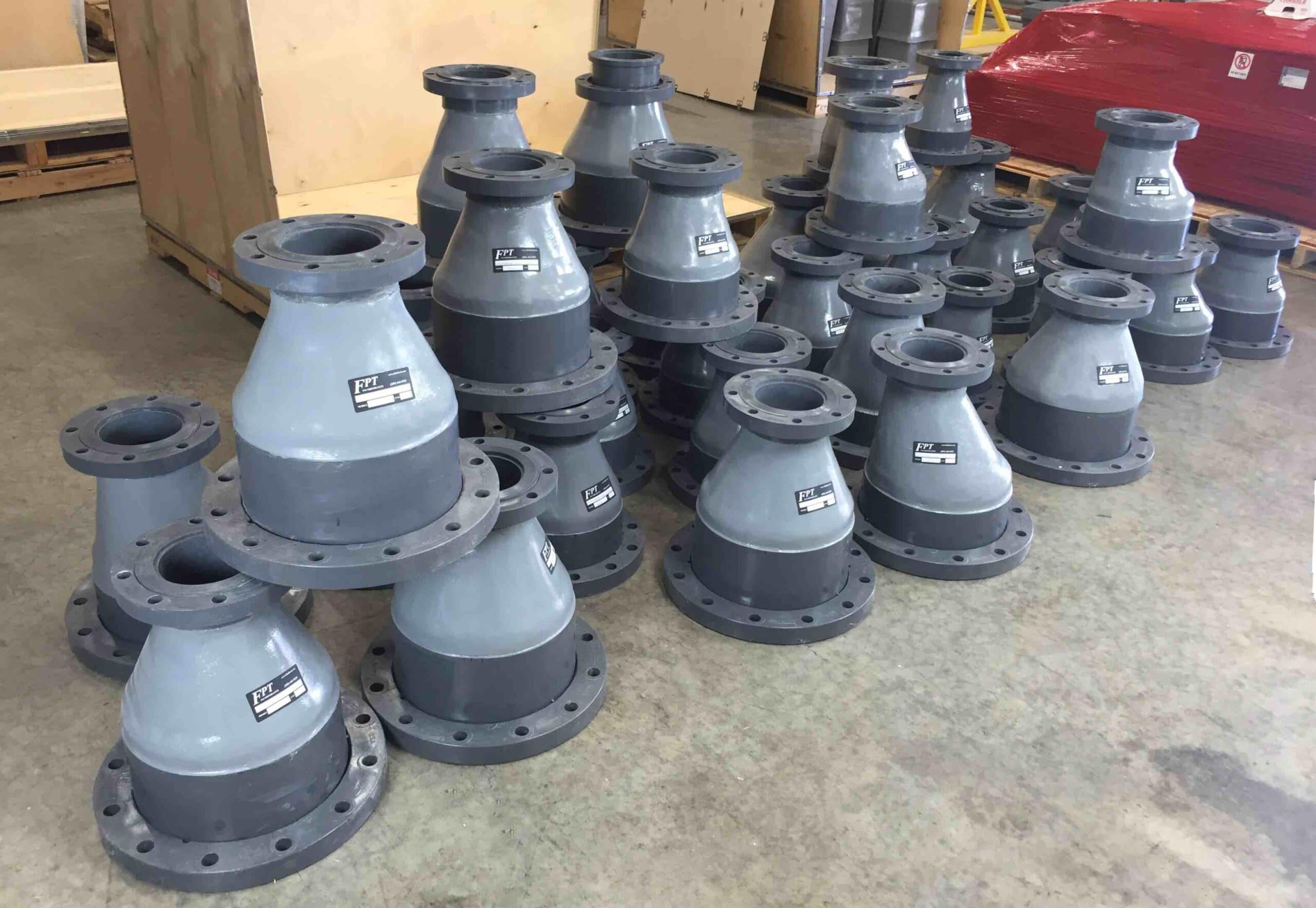 Flanged FRP Eccentric Reducers