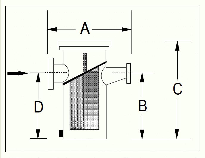 Diagram of Aquatic Basket Strainer