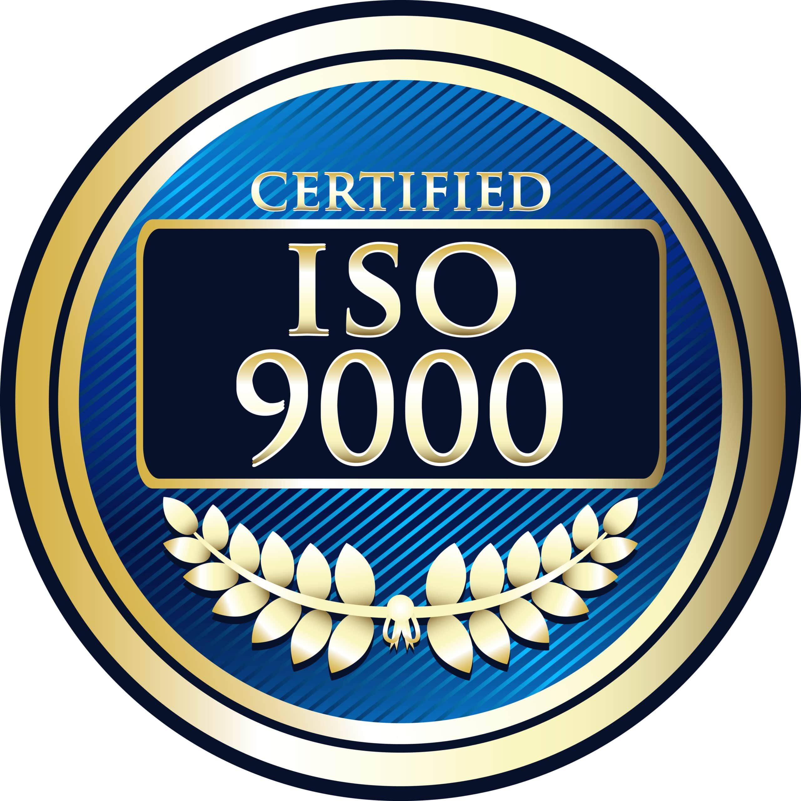 ISO 9000 Certification Badge