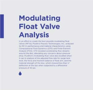 Modulating Float Valve Analysis